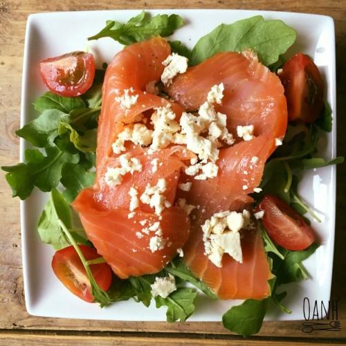 Zalm salade met feta