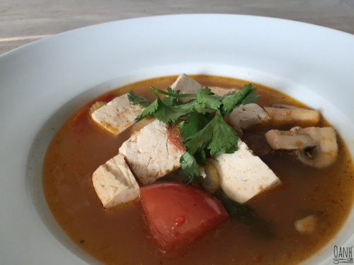 Aziatische tofu soep