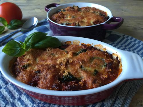 Courgette aubergine lasagne