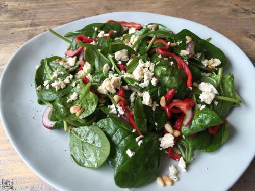 Spinazie salade met feta