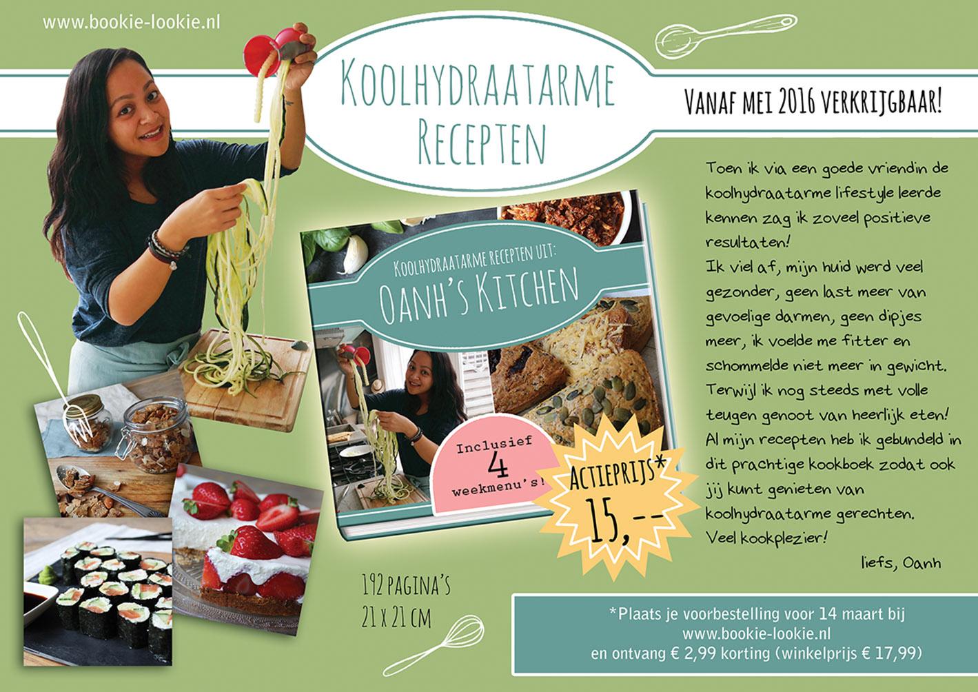 Kookboek: Koolhydraatarme recepten uit Oanh's kitchen vanaf nu voor te bestellen!!