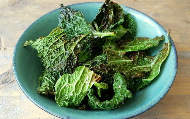 Wednesday Challenge: Groene kool chips!