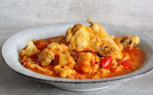 Pittige kip curry!