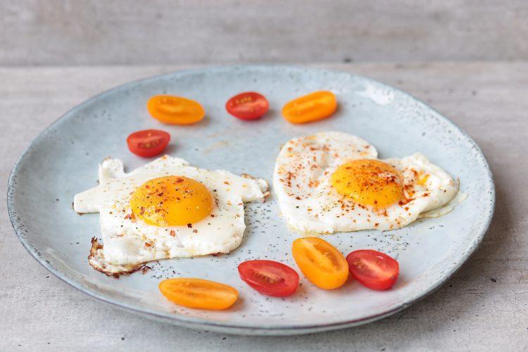 Romantische ontbijt of brunch eitjes!