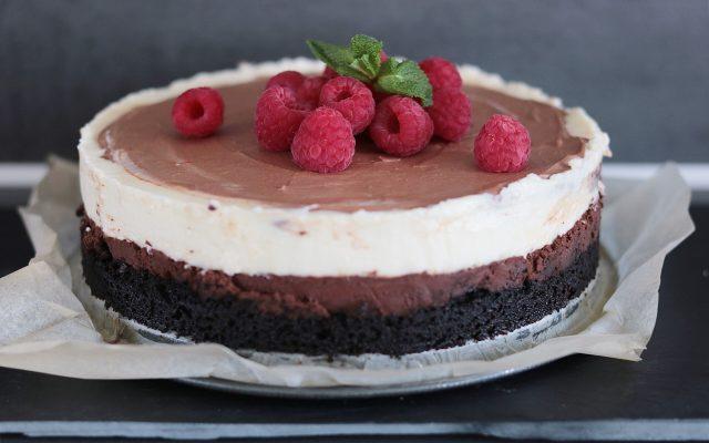 Choco laagjes cheesecake van Zoetrecepten!