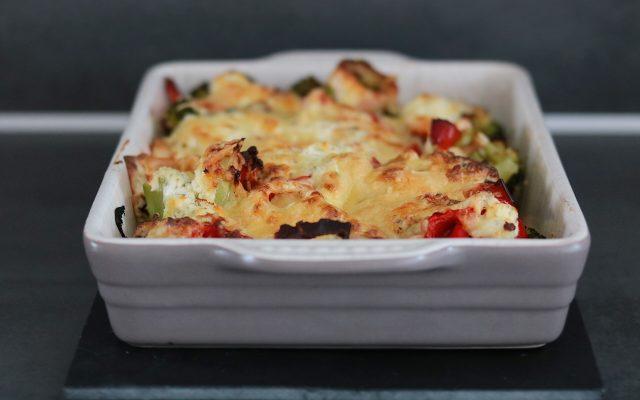 Broccoli zalm ovenschotel