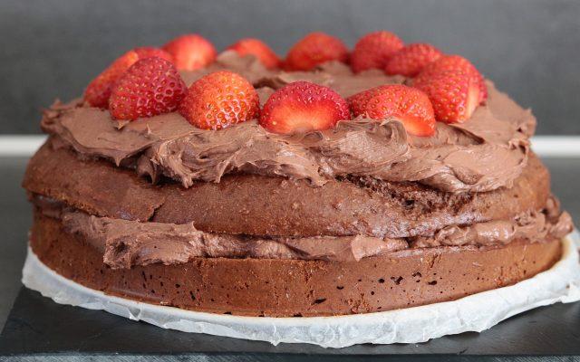 Koolhydraatarme chocolade verjaardagstaart!