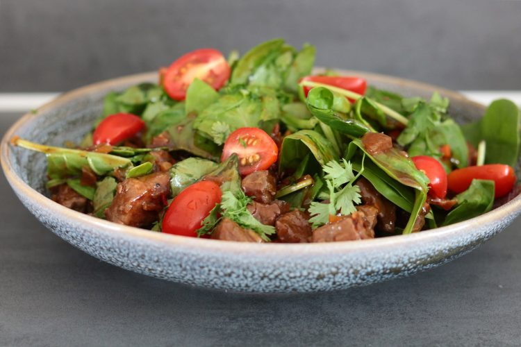 Spinazie-biefstuk salade