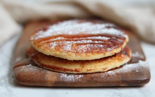 Snelle vanille salty caramel pannenkoeken!